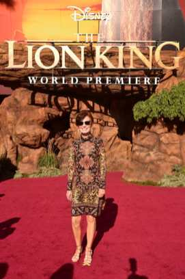 """HOLLYWOOD, CALIFORNIA - JULY 09: Linda Woolverton attends the World Premiere of Disney's """"THE LION KING"""" at the Dolby Theatre on July 09, 2019 in Hollywood, California. (Photo by Alberto E. Rodriguez/Getty Images for Disney)"""