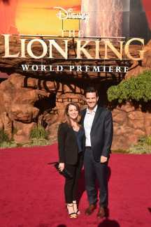 """HOLLYWOOD, CALIFORNIA - JULY 09: Producer Karen Gilchrist (L) attends the World Premiere of Disney's """"THE LION KING"""" at the Dolby Theatre on July 09, 2019 in Hollywood, California. (Photo by Alberto E. Rodriguez/Getty Images for Disney)"""