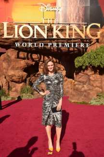 """HOLLYWOOD, CALIFORNIA - JULY 09: Emily Deschanel attends the World Premiere of Disney's """"THE LION KING"""" at the Dolby Theatre on July 09, 2019 in Hollywood, California. (Photo by Alberto E. Rodriguez/Getty Images for Disney)"""