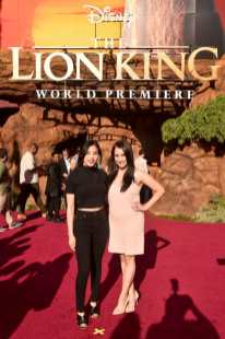 """HOLLYWOOD, CALIFORNIA - JULY 09: Anna Akana (L) attends the World Premiere of Disney's """"THE LION KING"""" at the Dolby Theatre on July 09, 2019 in Hollywood, California. (Photo by Alberto E. Rodriguez/Getty Images for Disney)"""