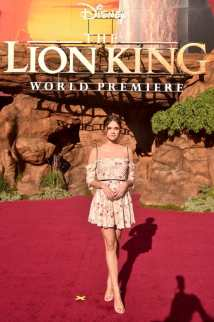 """HOLLYWOOD, CALIFORNIA - JULY 09: Maia Mitchell attends the World Premiere of Disney's """"THE LION KING"""" at the Dolby Theatre on July 09, 2019 in Hollywood, California. (Photo by Alberto E. Rodriguez/Getty Images for Disney)"""