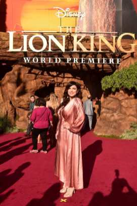 """HOLLYWOOD, CALIFORNIA - JULY 09: Gina Carano attends the World Premiere of Disney's """"THE LION KING"""" at the Dolby Theatre on July 09, 2019 in Hollywood, California. (Photo by Alberto E. Rodriguez/Getty Images for Disney)"""