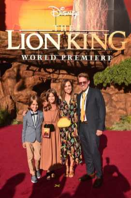 """HOLLYWOOD, CALIFORNIA - JULY 09: Visual effects artist Andy Jones (R) and guests attend the World Premiere of Disney's """"THE LION KING"""" at the Dolby Theatre on July 09, 2019 in Hollywood, California. (Photo by Alberto E. Rodriguez/Getty Images for Disney)"""