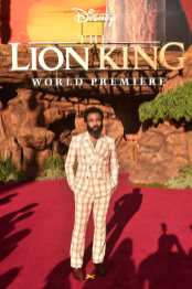 """HOLLYWOOD, CALIFORNIA - JULY 09: Donald Glover attends the World Premiere of Disney's """"THE LION KING"""" at the Dolby Theatre on July 09, 2019 in Hollywood, California. (Photo by Alberto E. Rodriguez/Getty Images for Disney)"""