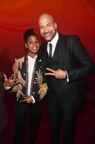 """HOLLYWOOD, CALIFORNIA - JULY 09: JD McCrary (L) and Keegan-Michael Key attend the World Premiere of Disney's """"THE LION KING"""" at the Dolby Theatre on July 09, 2019 in Hollywood, California. (Photo by Alberto E. Rodriguez/Getty Images for Disney)"""