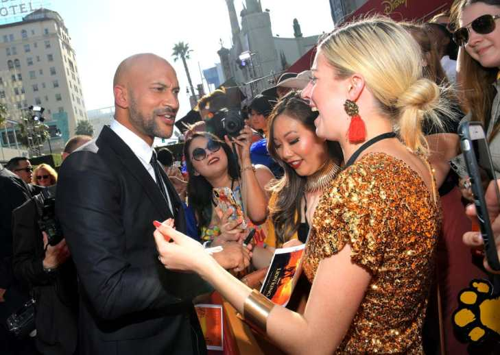 """HOLLYWOOD, CALIFORNIA - JULY 09: Keegan-Michael Key attends the World Premiere of Disney's """"THE LION KING"""" at the Dolby Theatre on July 09, 2019 in Hollywood, California. (Photo by Charley Gallay/Getty Images for Disney)"""