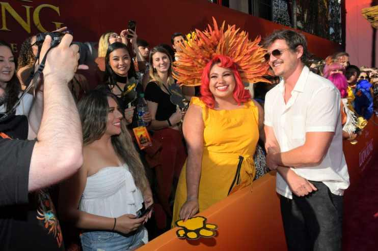 """HOLLYWOOD, CALIFORNIA - JULY 09: Pedro Pascal attends the World Premiere of Disney's """"THE LION KING"""" at the Dolby Theatre on July 09, 2019 in Hollywood, California. (Photo by Charley Gallay/Getty Images for Disney)"""