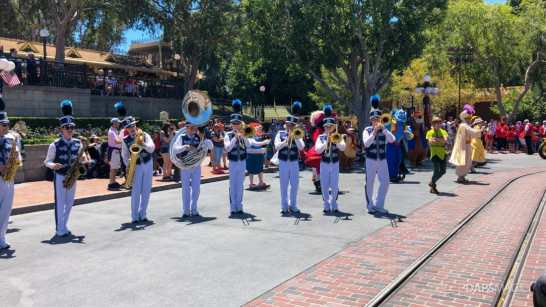 First Performance- Mickey and Friends Band-Tastic Cavalcade at Disneyland-22