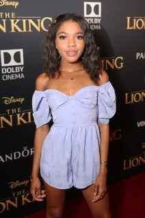 """HOLLYWOOD, CALIFORNIA - JULY 09: Teala Dunn attends the World Premiere of Disney's """"THE LION KING"""" at the Dolby Theatre on July 09, 2019 in Hollywood, California. (Photo by Jesse Grant/Getty Images for Disney)"""