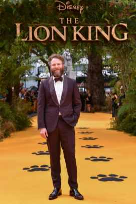"Seth Rogen attends the European Premiere of Disney's ""The Lion King"" at the Odeon Leicester Square on 14th July 2019 in London, UK"