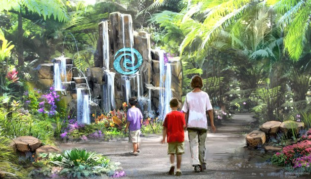 """Journey of Water, Inspired by """"Moana"""" at Epcot will be the first attraction inspired by the hit Walt Disney Animation Studios film. This lush exploration trail will invite guests to meet and play with magical, living water. (Disney)"""