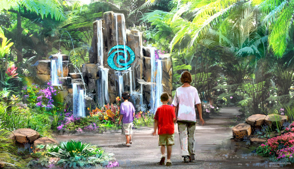 Moana - Journey of Water Attraction Concept Art for Epcot