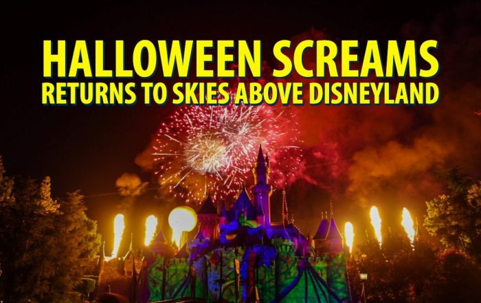 Halloween Screams Returns to Skies Above Disneyland