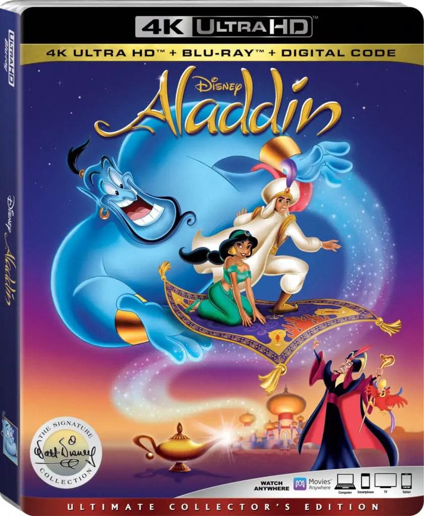 Aladdin 4k Ultra HD Box Art