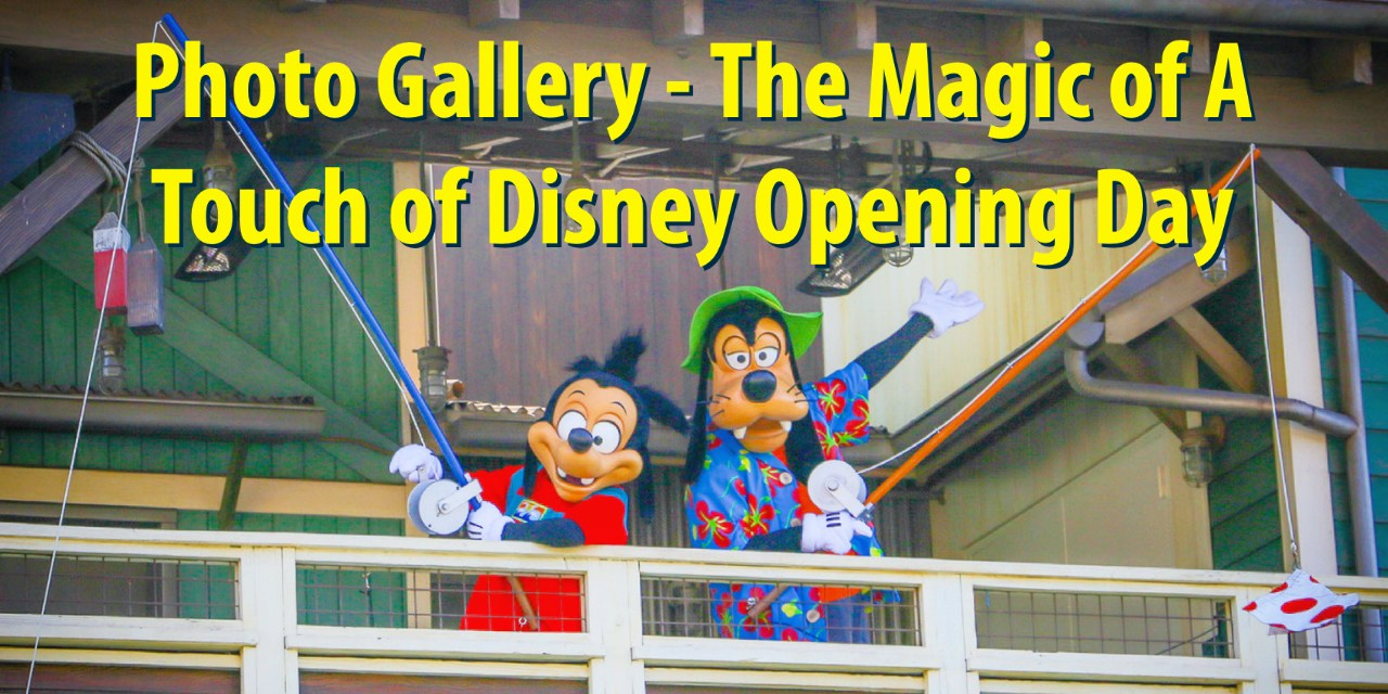 Photo Gallery – The Magic of A Touch of Disney Opening Day