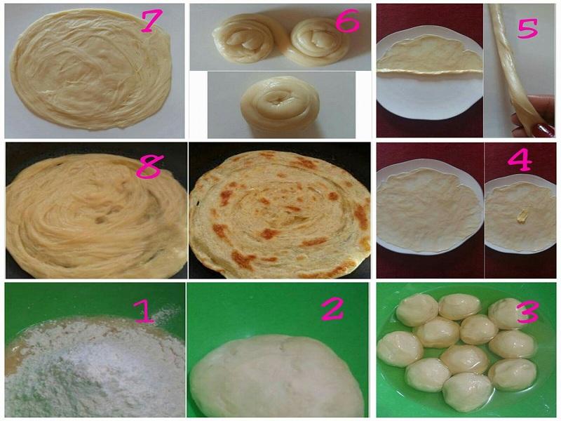 Resep Masakan India Roti Canai Super lembut