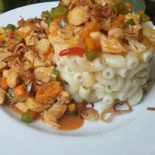 Resep Macaroni Pasta Spicy Chicken Saus