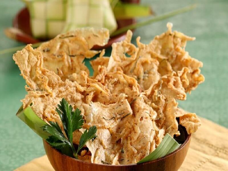 resep rempeyek udang rebon makanan Nusantara