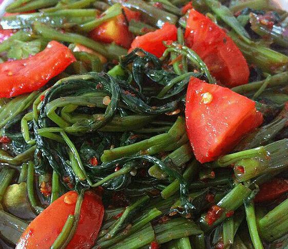Resep Kangkung Bumbu Cabai Tomat