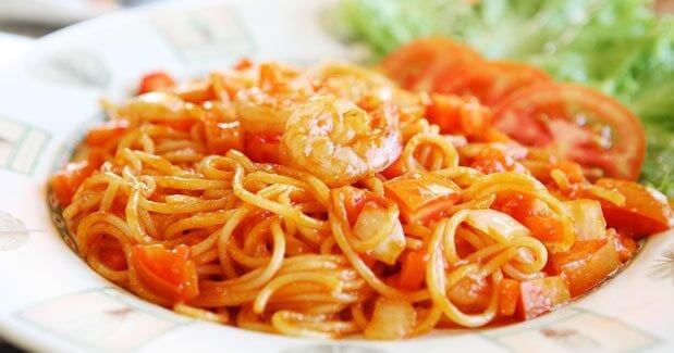 resep spaghetti saus udang lezat praktis