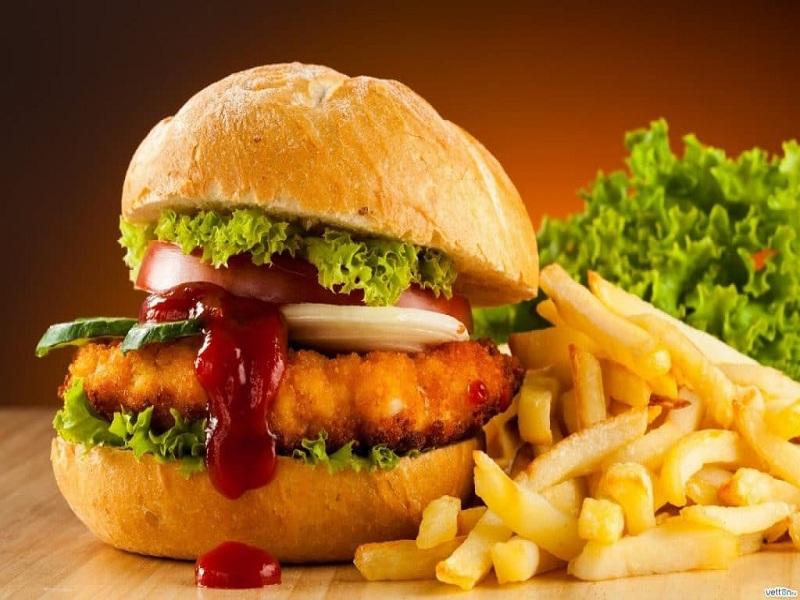 Burger tempe crispy