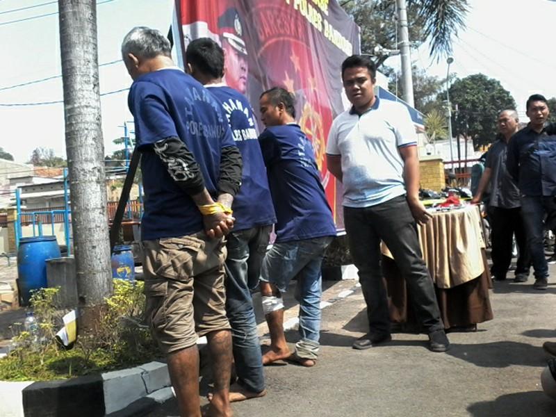 Polres Bandung tangkap tiga begal (Foto: galamedianews)
