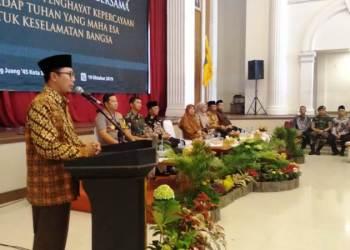 Wali Kota Sukabumi, Achmad Fahmi, mengajak warganya menjaga kondusivitas wilayah menjelang pelantikan Presiden dan Wakil Presiden RI periode 2019-2024. Foto: dara.co.id/Riri
