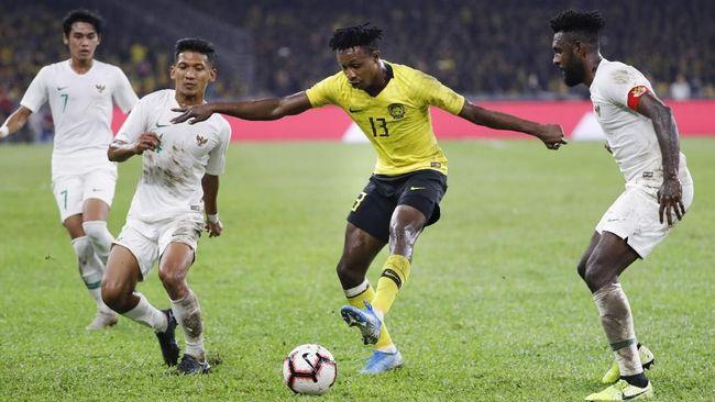 Indonesia kalah dari Malaysia dalam laga kualifikasi Piala Dunia. (AP Photo/Vincent Thian/CNNIndonesia)