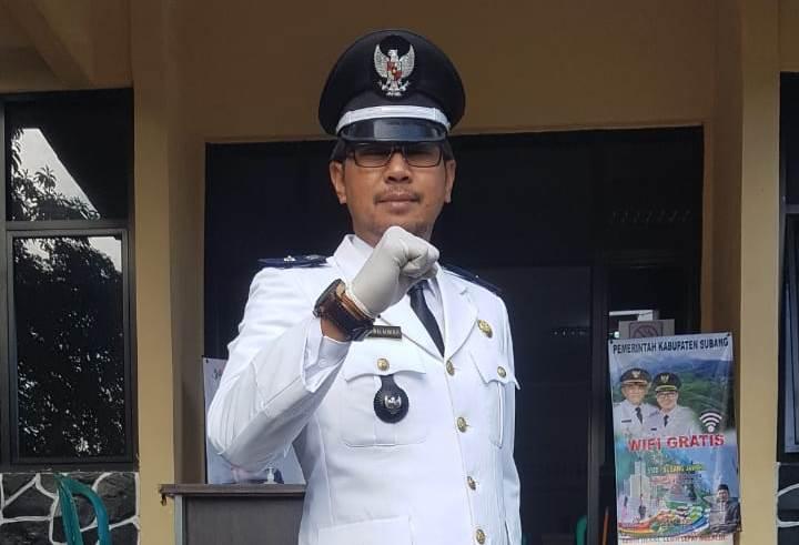 Kepala Desa Jalancagak, Indra Jaenal Alim. (Foto: Deny Suhendar/dara.co.id)