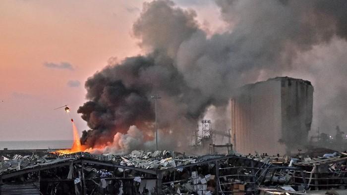 Ledakan di Beirut, Lebanon diduga karena amonium nitrat. Foto: AFP/STR/detikcom