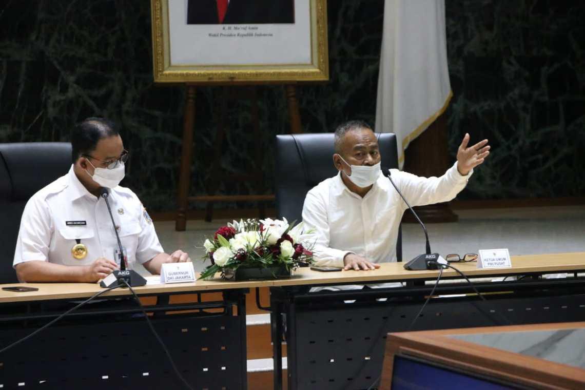 Ketua Umum PWI Pusat, Atal S Depari bertemu langsung dengan Gubernur DKI Jakarta Anies Baswedan membahasa Hari Pers Nasional 20121 (Foto: Istimewa)