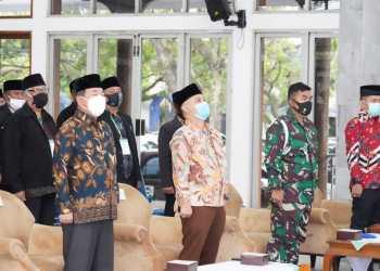 Bupati Garut, Rudy Gunawan menghadiri dan membuka kegiatan Musda X Tahun 2020 MUI (Foto: Andre/dara.co.id)
