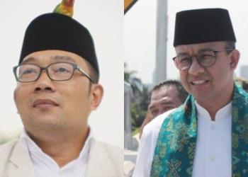 Ridwan Kamil dan Anies Baswedan (Foto: Tribunnews.com)
