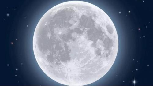 Fenomena Bulan Purnama salju. (Times of India/suara.com)
