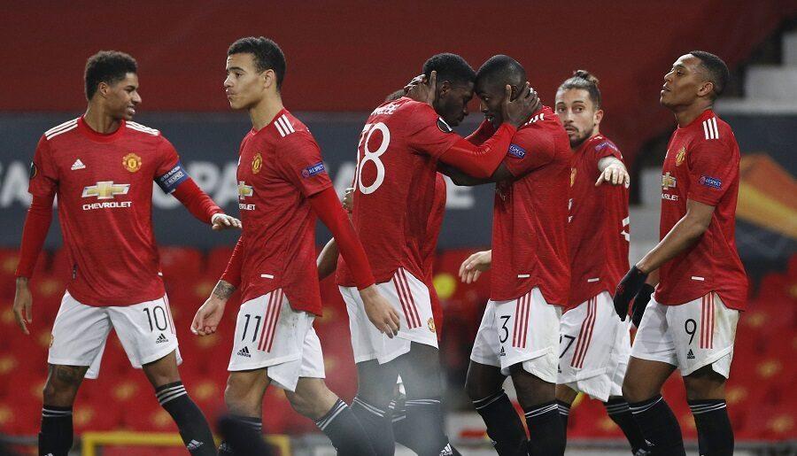 Manchester United menyegel satu tempat di babak 16 besar Liga Europa.(Foto : bola okezone)