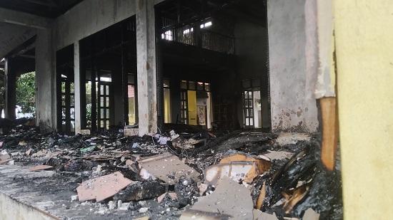 Masjid Ummar bin Khottob kebakaran (Foto: Purwanda/dara,co.id)