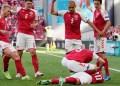Christian Eriksen pingsan saat timnya Denmark menghadapi Finlandia di pertandingan pertama grup B Piala Eropa 2020, Minggu (13/6/2021) WIB. (Foto :theinscribermag.com)