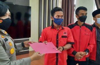 DPC PDIP KOta Banjar laporkan berita hoaks soal kesehatan Megawati (Foto: Istimewa)