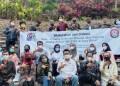 Diskusi 'Peluang Generasi Milenial Menyongsong Analog Switch Off (ASO) di Jawa Barat berfoto bersama di Resort Ekowisata dan Budaya, Alam Santosa, Bandung, Kamis (23/9/2021). (Foto: KPID Jawa Barat)