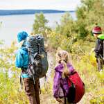 Introduction kids backpacking camping