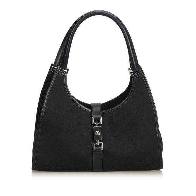 Gucci-Black-Guccissima-Canvas-Bag