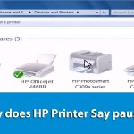 Why does HP Printer Say paused?