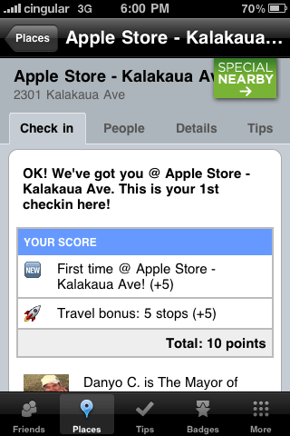 FourSquare Apple Store Waikiki