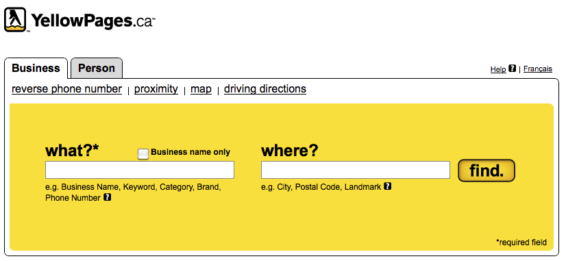 YellowPages.ca Canada's Commercial Largest Business Search Directory