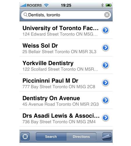 Google Maps Toronto Dentists