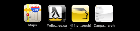 Local Search Icons on iPhone Canada