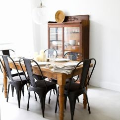 Steel Chair Dining Table Oak Rail The Classic And Beautiful Black Room Chairs