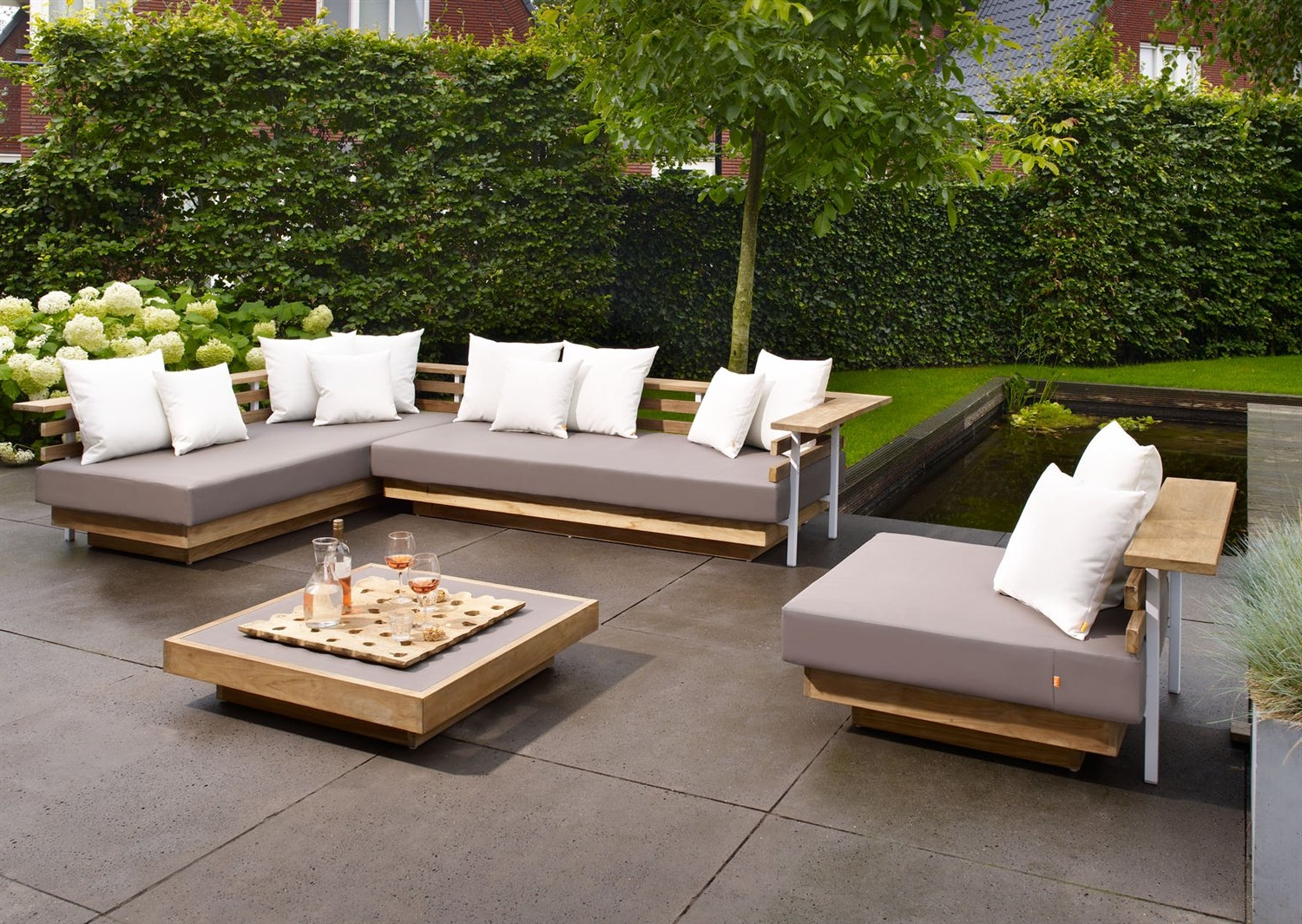 outdoor sofa furniture 3 seater recliner leather lounge settings