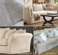 Linen Sofa Slipcover Linen Sofa Single Seat Cushion - TheSofa