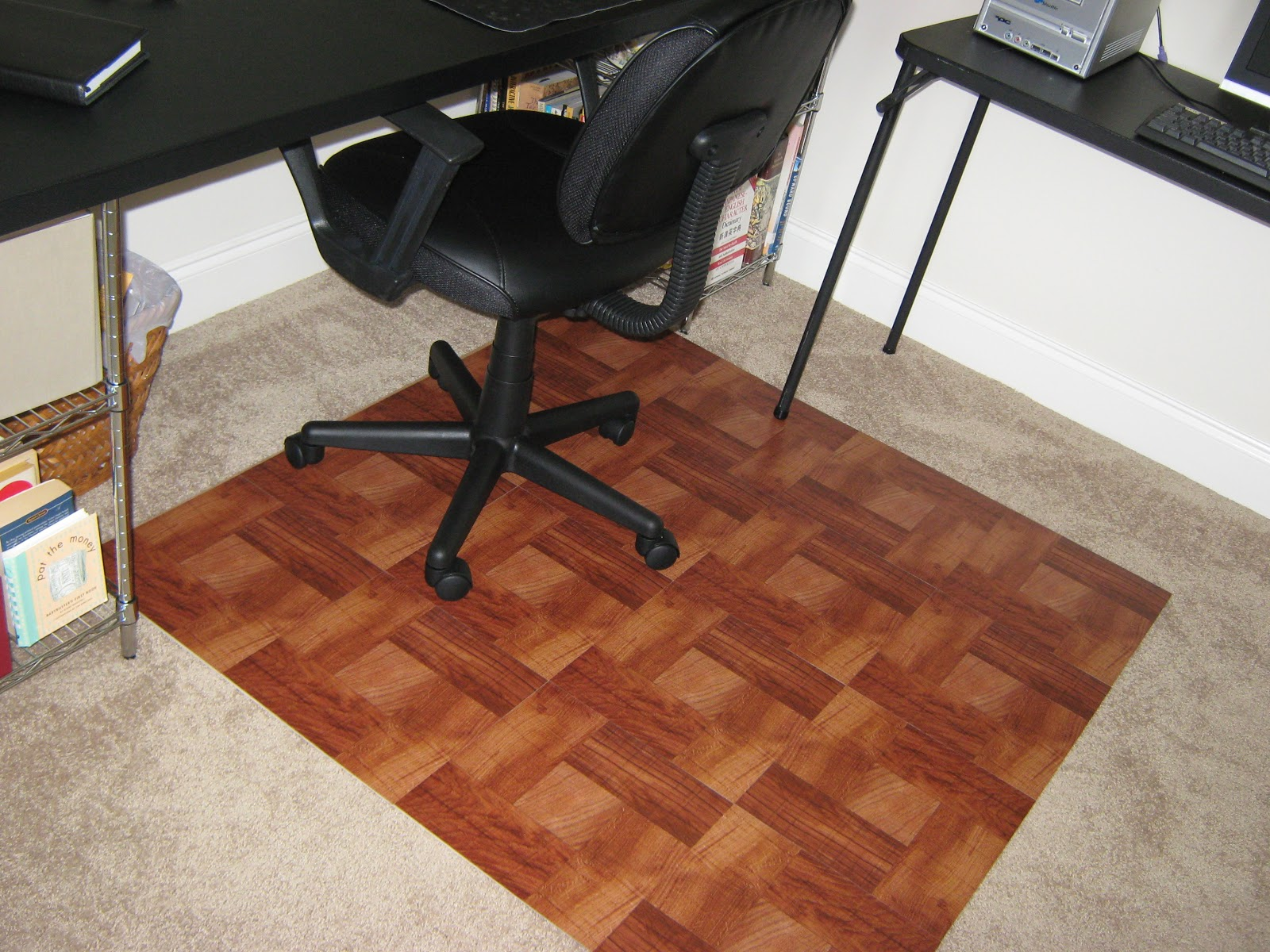 desk chair mat for carpet blue metal folding chairs create a better overview of your ambience by using mats